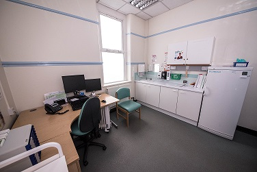 View of Occupational Health Clinic Room