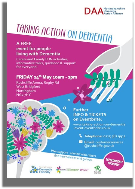 Taking Action on Dementia Information Poster