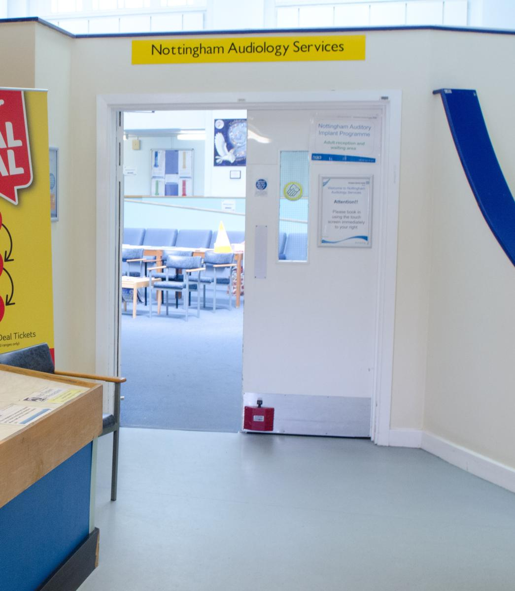 Photo of entrance to Nottingham Audiology Services