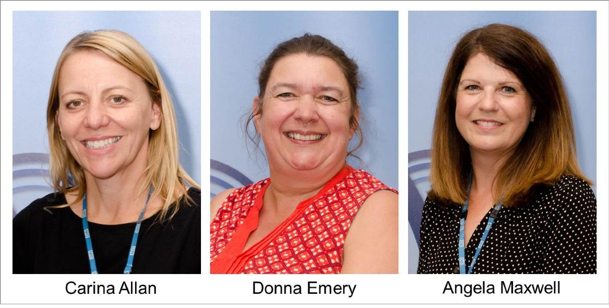 Photos of the three members of the NAIP transitions team: Carina Allan, Donna Emery and Angela Maxwell