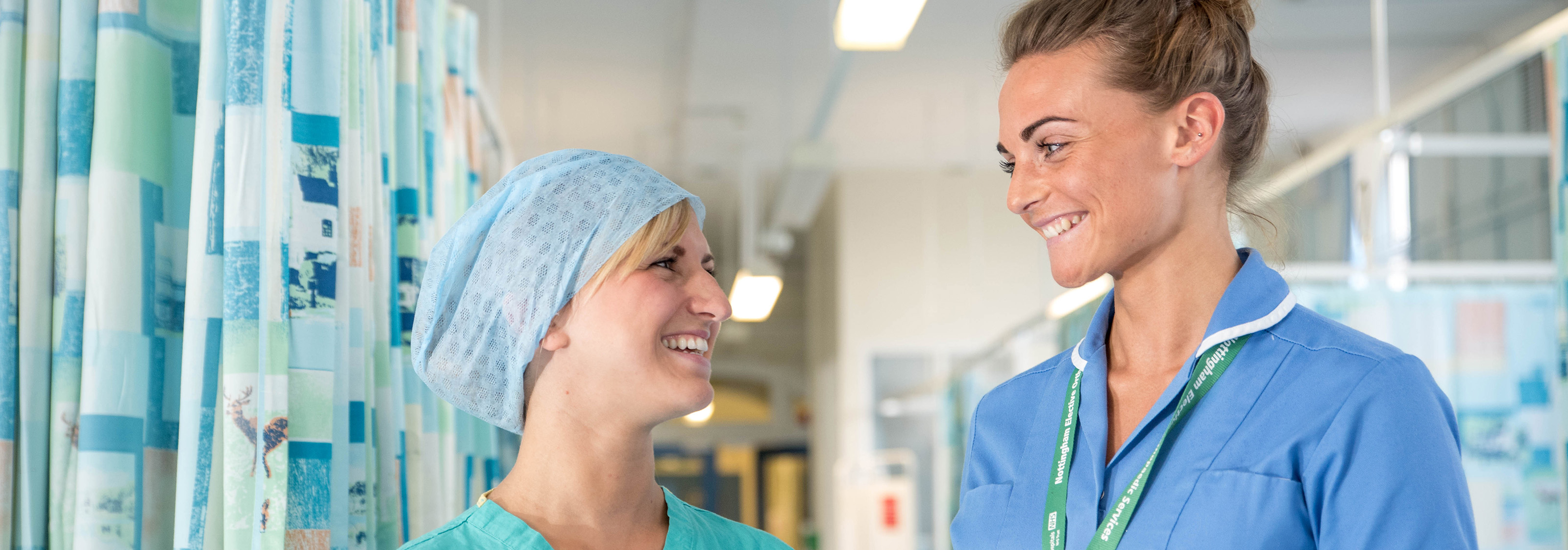 Two nurses talking