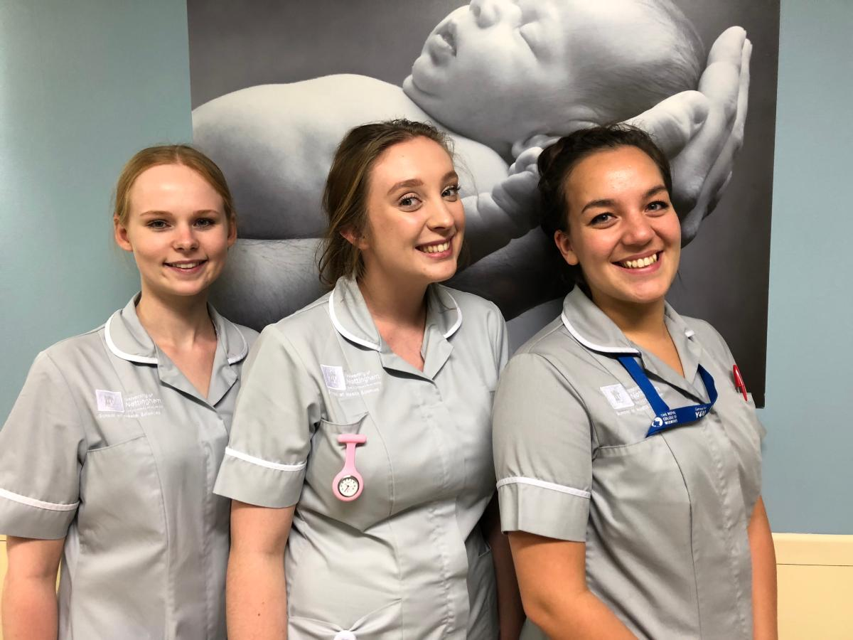 Student midwives photo